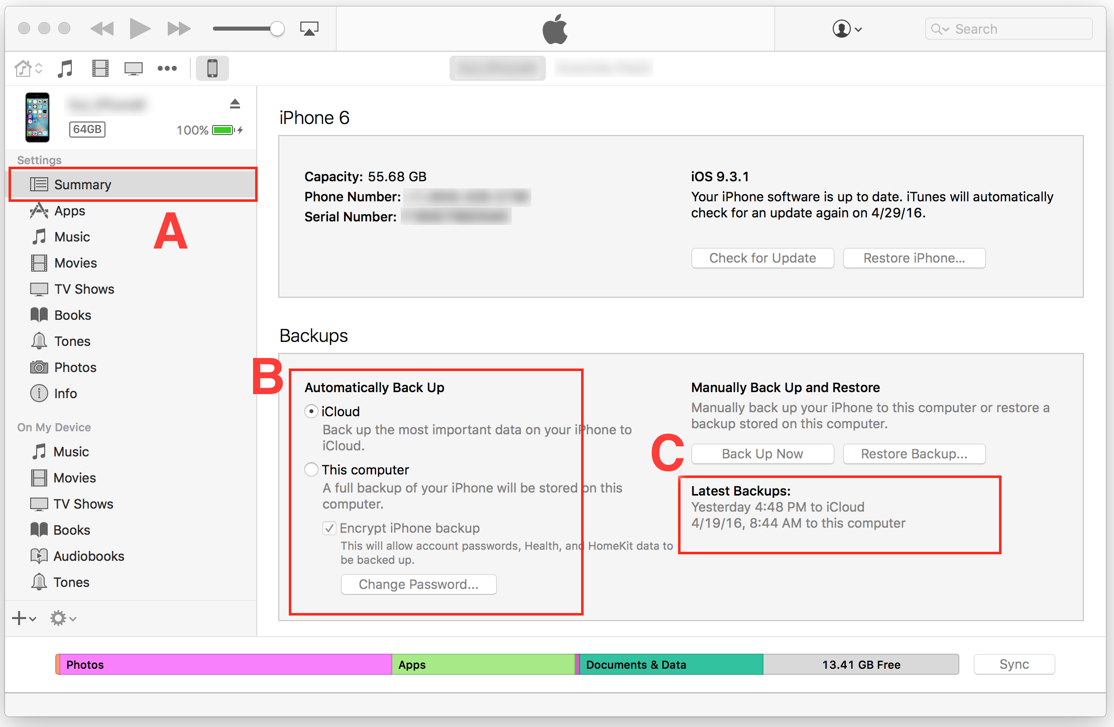 Database Recovery from an iTunes Backup - Chronic Pain